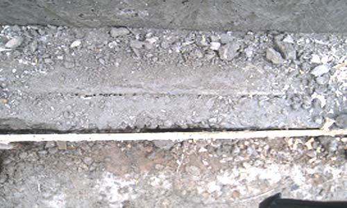 Обследование фундамента - не долив бетона